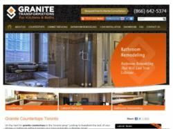 screen capture of Granite Transformations website